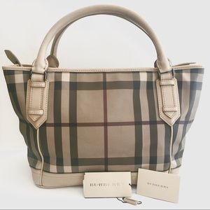 Burberry Large Check Print Montford Shoulder Bag